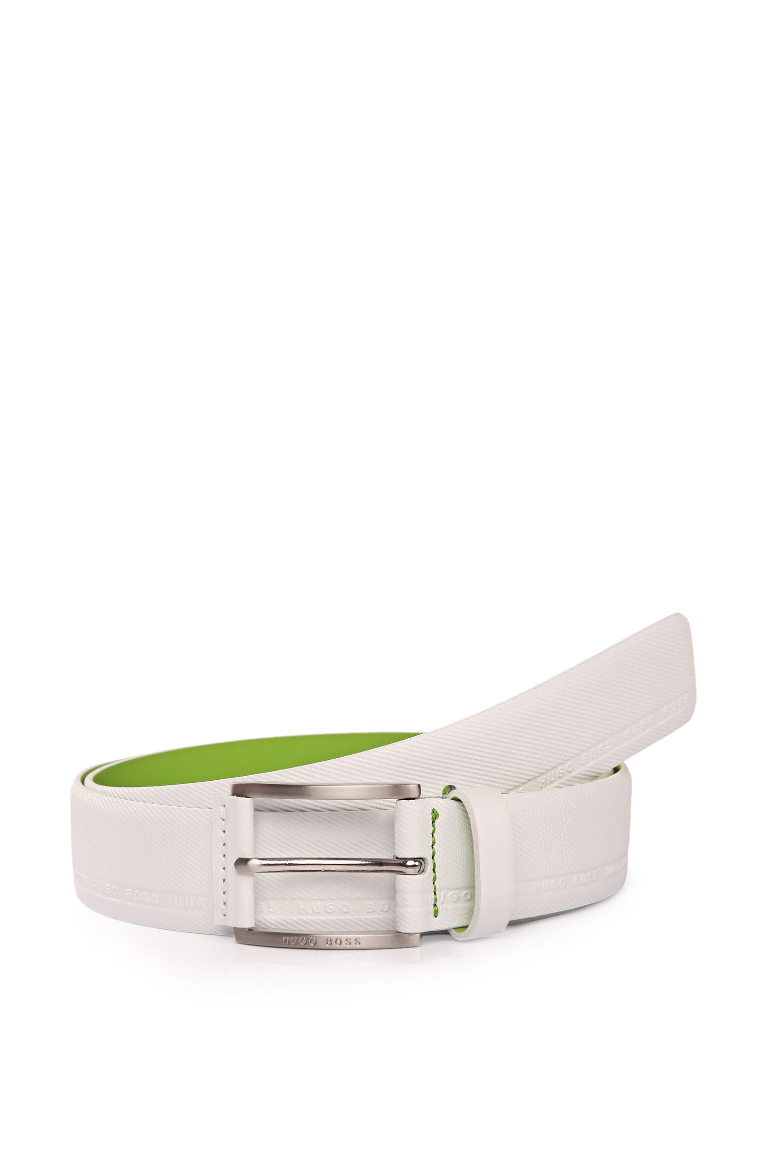 'Tymos' | Leather Etched Belt