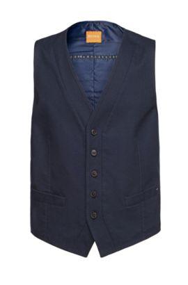 'Bosset_BS-W' | Slim Fit, Stretch Cotton Vest, Dark Blue
