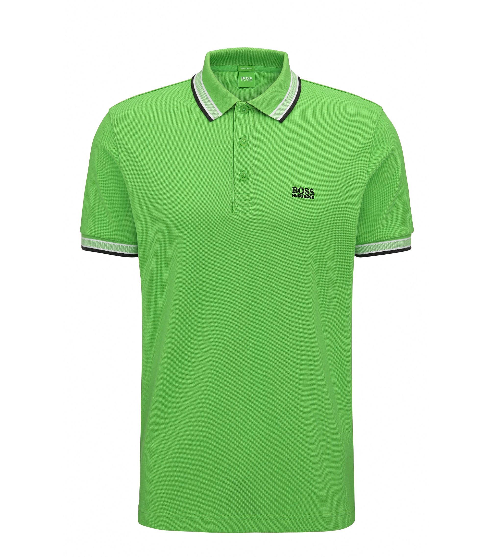Cotton Polo Shirt, Regular Fit   Paddy, Green