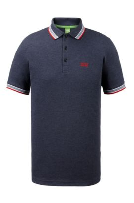 Cotton Polo Shirt, Regular Fit | Paddy, Dark Blue