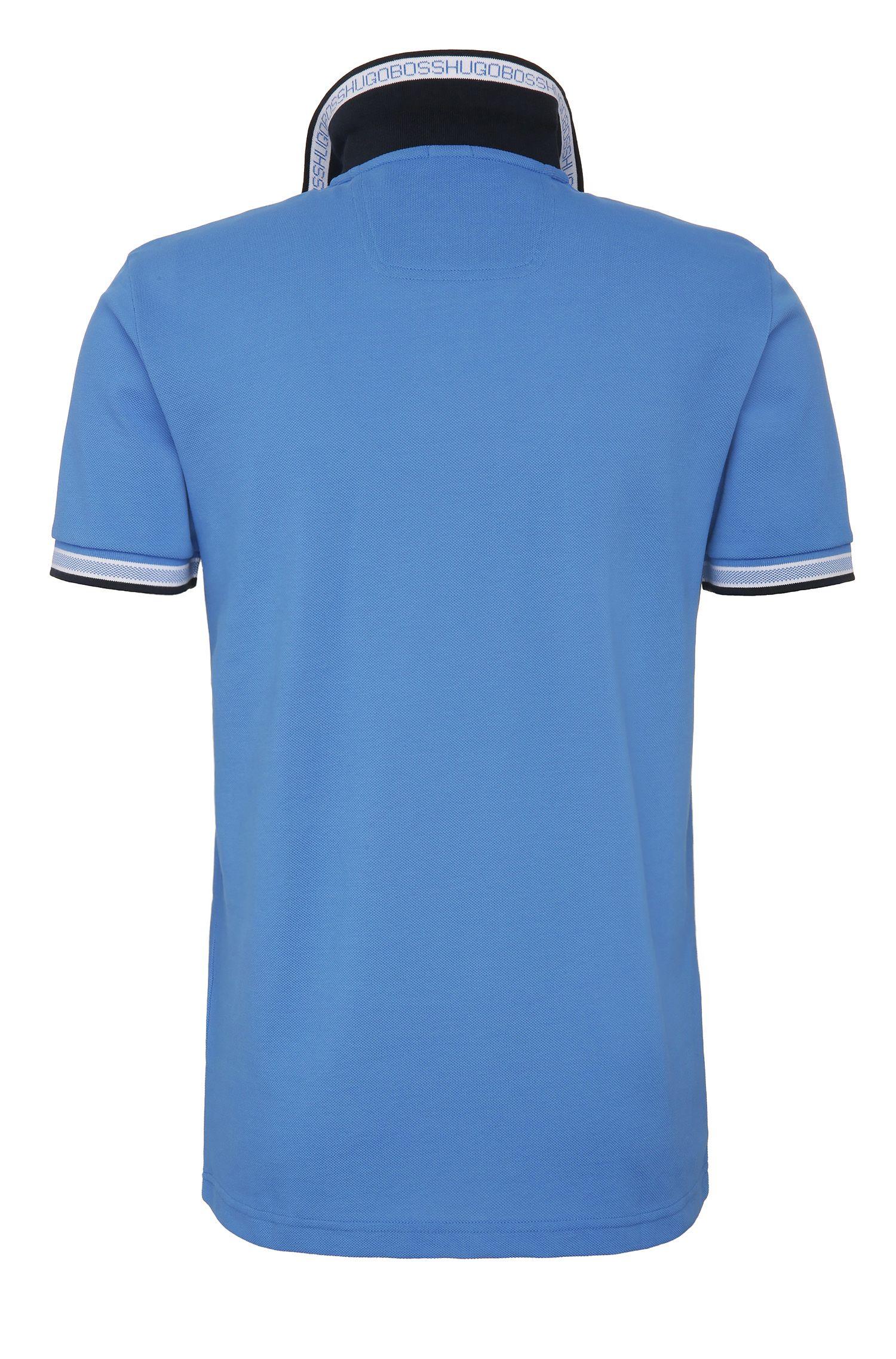Cotton Polo Shirt, Regular Fit | Paddy, Blue