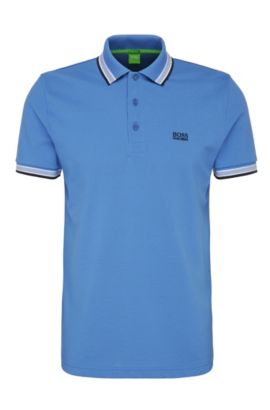 Cotton Polo Shirt, Regular Fit | Paddy, Blue