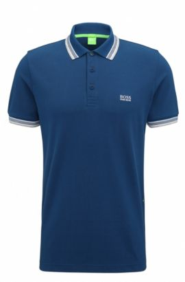'Paddy' | Regular Fit, Cotton Polo, Open Blue