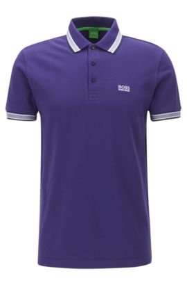 Cotton Polo Shirt, Regular Fit | Paddy, Dark Purple