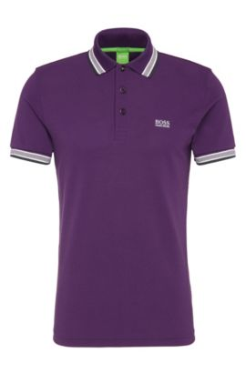 Cotton Polo Shirt, Regular Fit | Paddy, Dark Purple