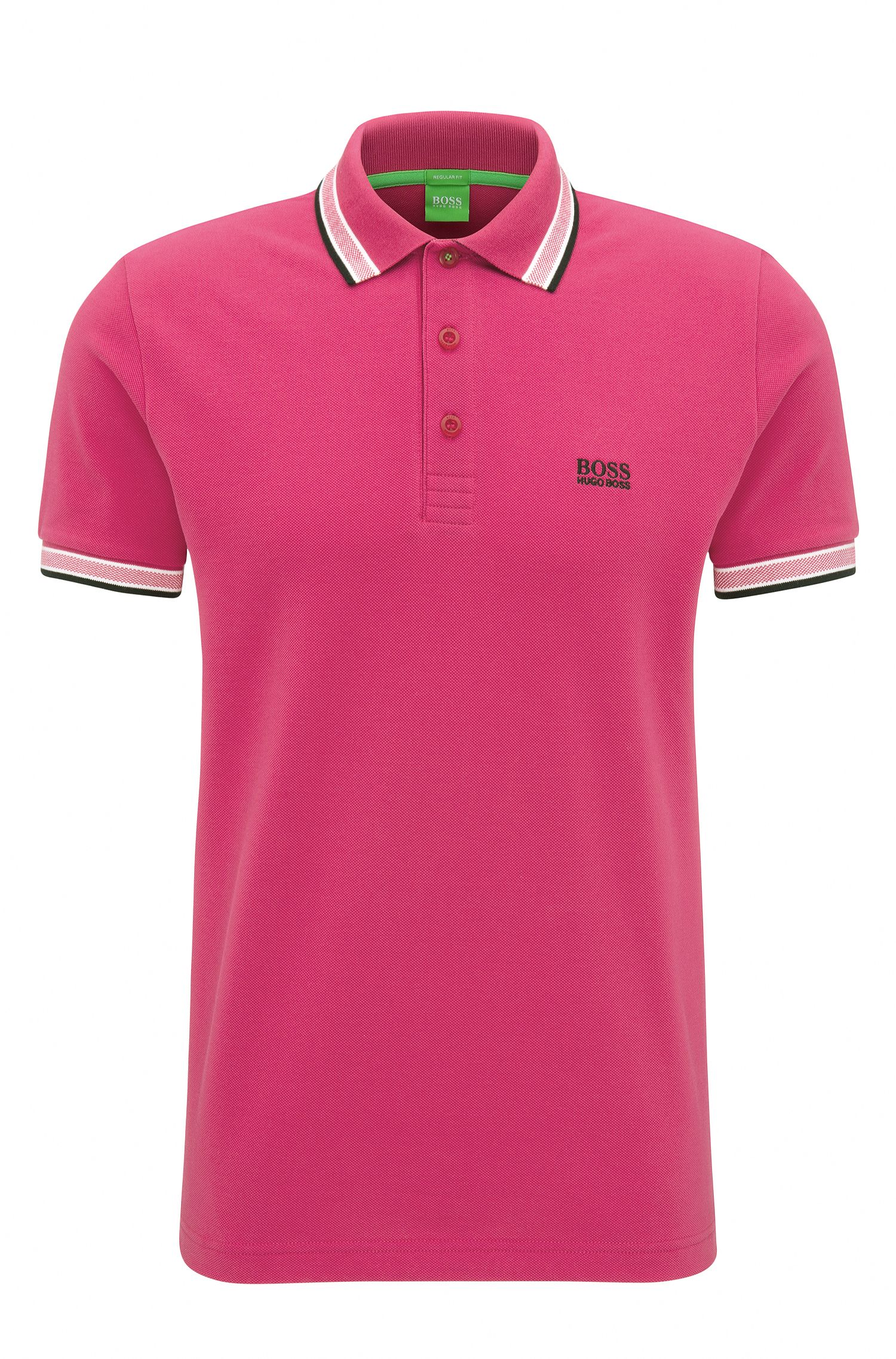 Cotton Polo Shirt, Regular Fit   Paddy