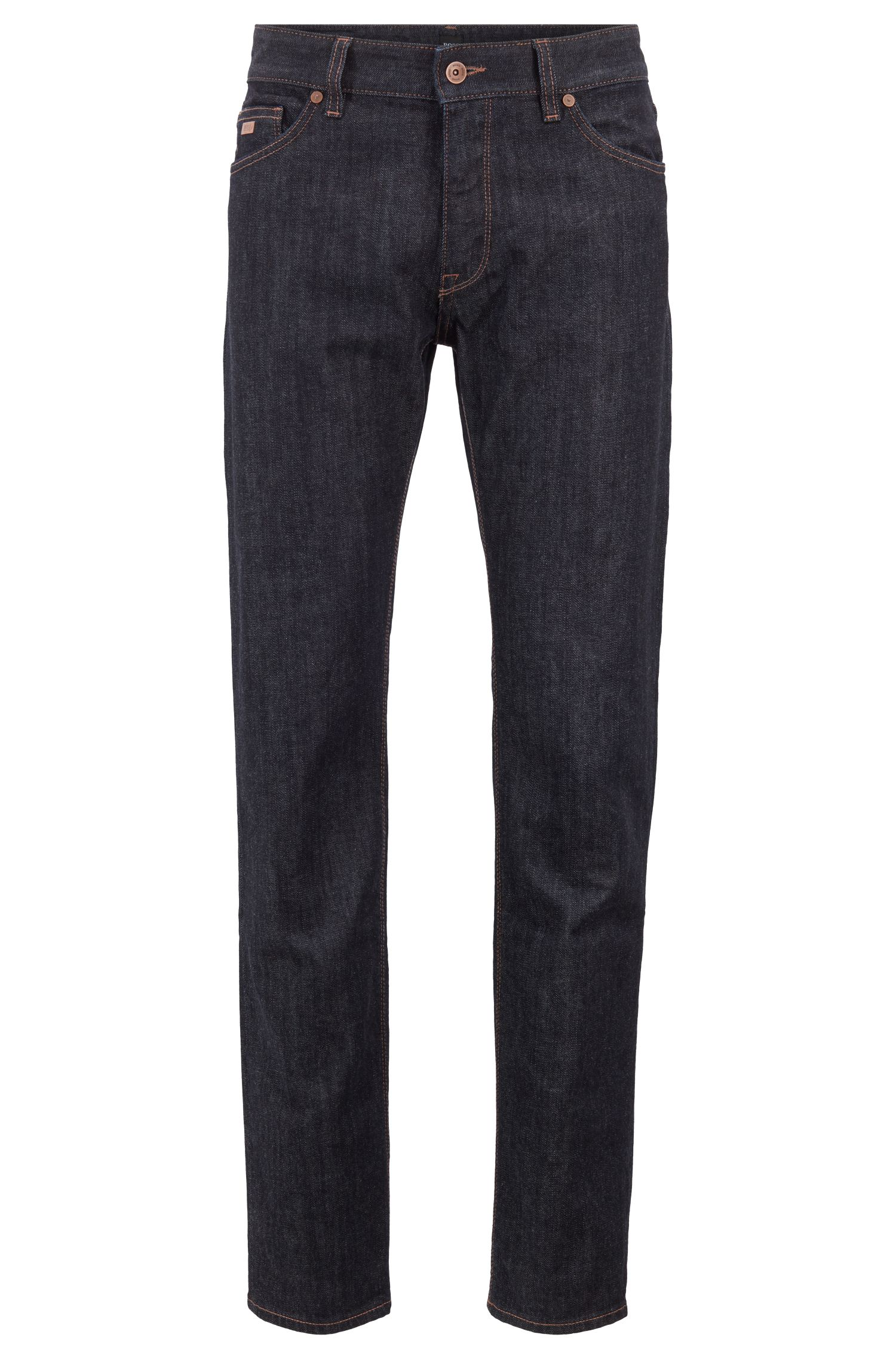 Regular-fit jeans in stretch denim, Dark Blue