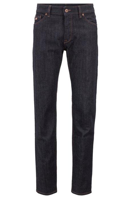 Regular-fit jeans in stretch denim, Dark Blue