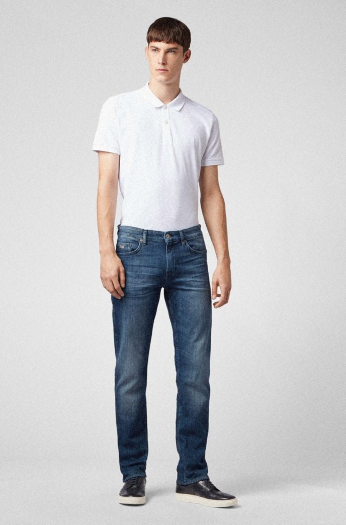 Slim-fit jeans in mid-wash denim