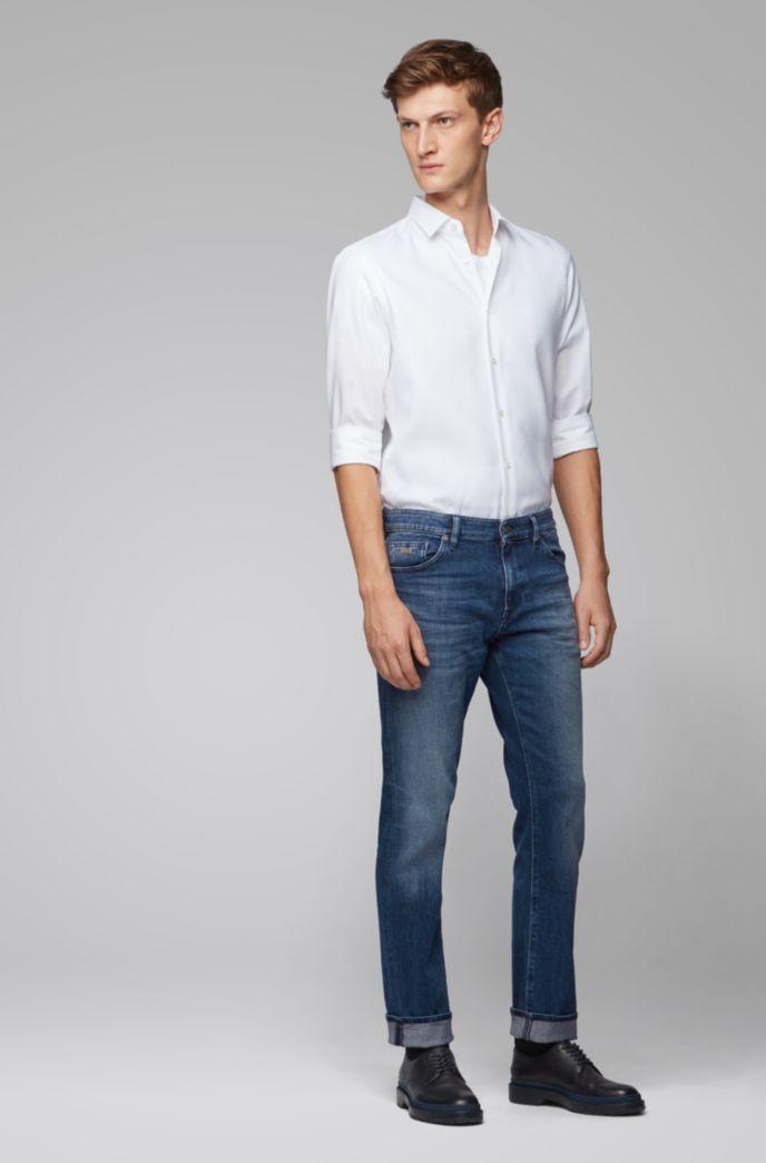 Regular-fit jeans in dark blue comfort-stretch denim