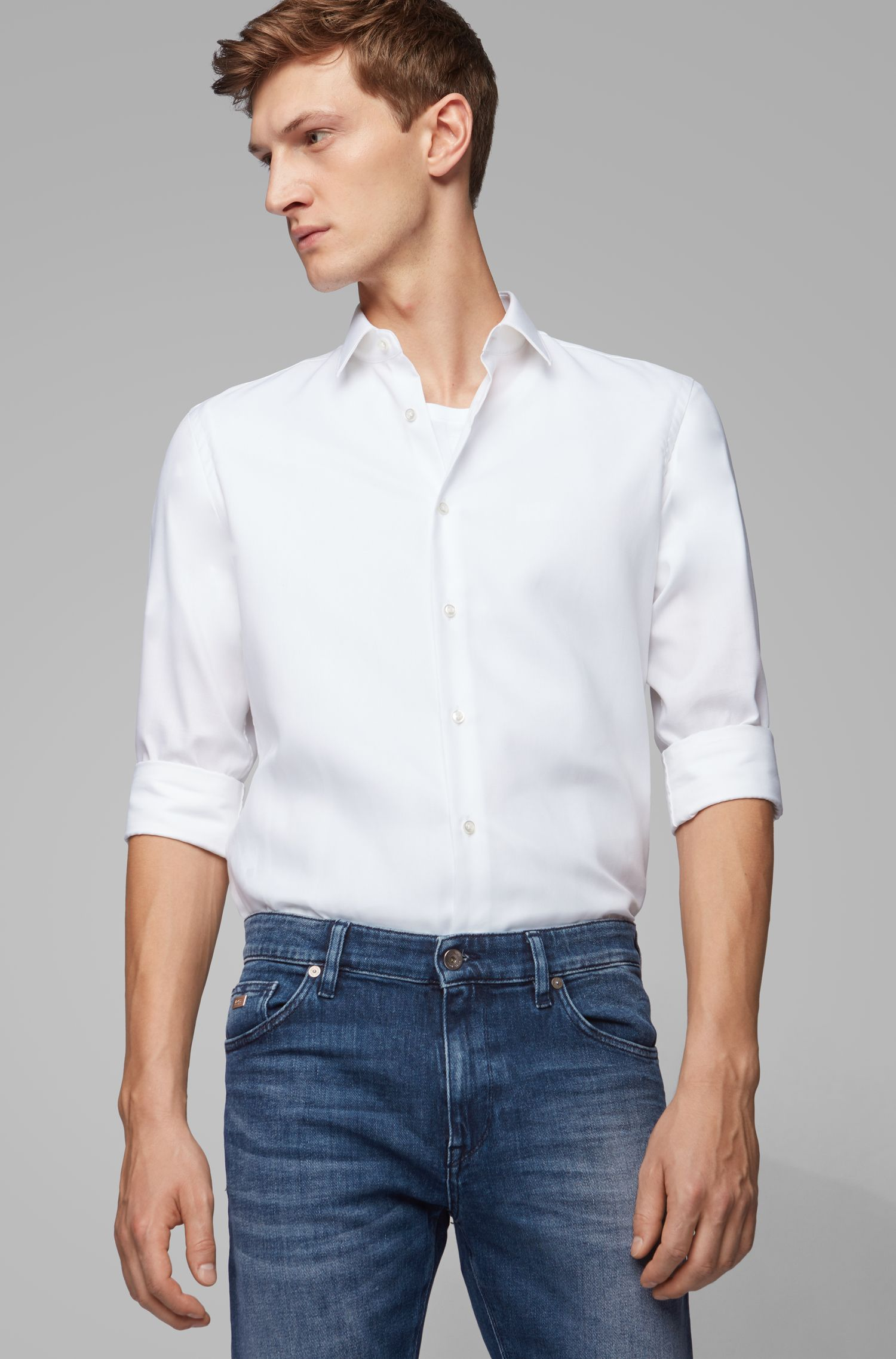 Stretch Cotton Jean, Regular Fit | Maine, Blue