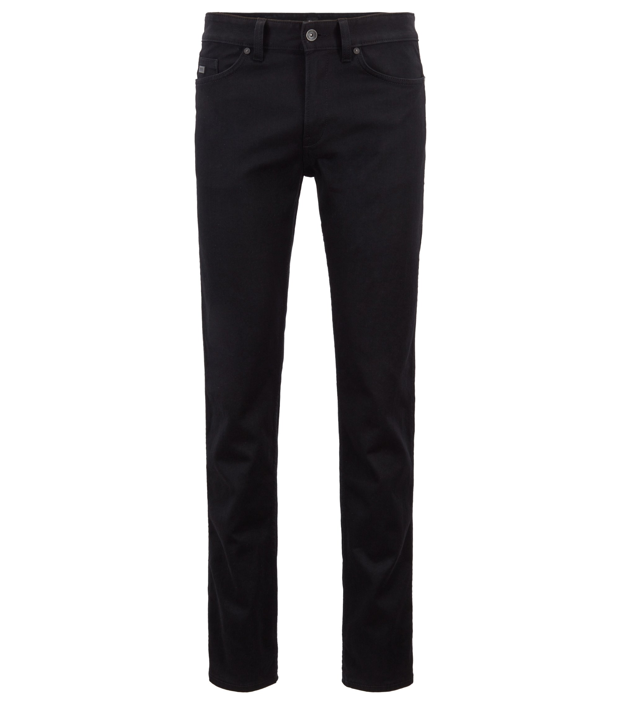 Stretch Cotton Jean, Slim Fit | Delaware, Black