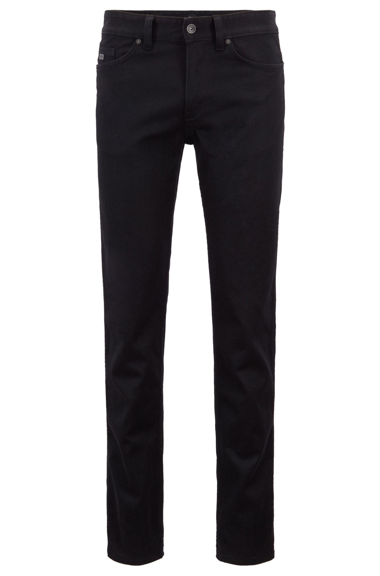 Stretch Cotton Jean, Slim Fit | Delaware, Black