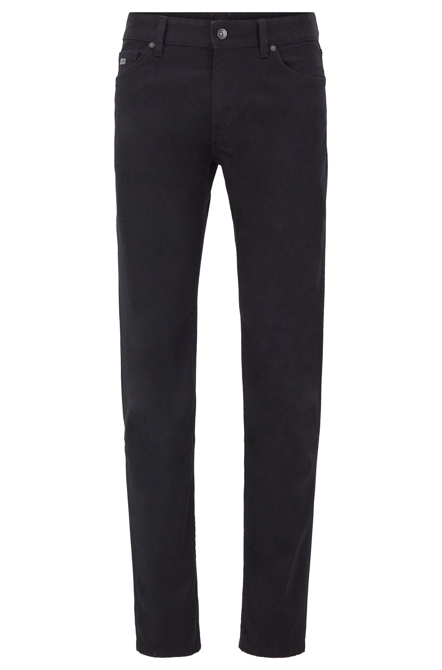 Regular-fit jeans in black comfort-stretch denim, Black