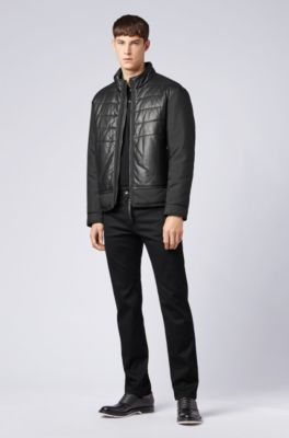 Regular-fit jeans in black comfort-stretch denim