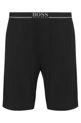 'Short Pant EW' | Stretch Modal Lounge Shorts, Black