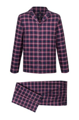 'Pyjama' | Cotton Flannel Pajama Set, Dark Red
