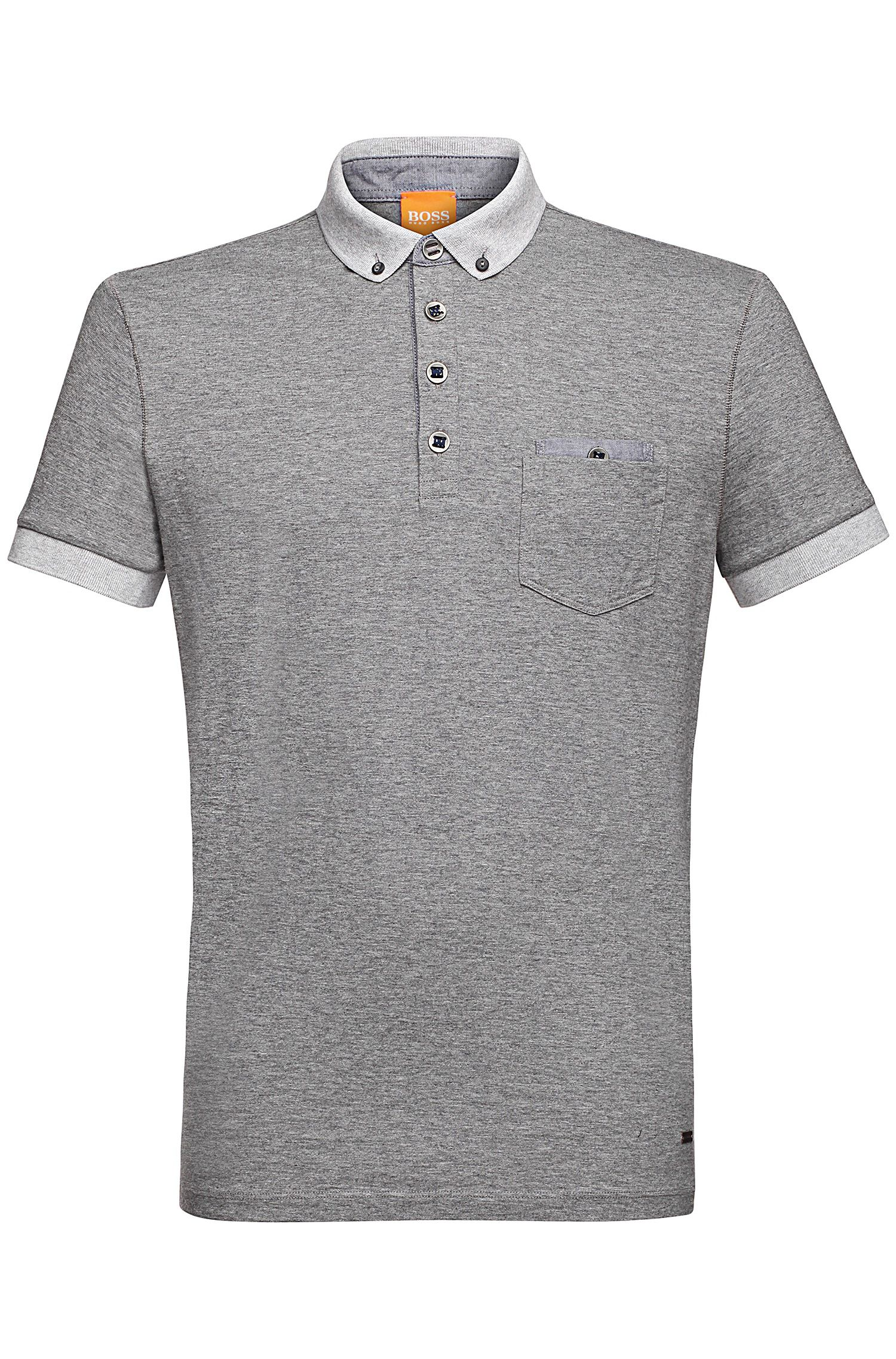 Yarn-Dyed Cotton Jersey Polo | Patches