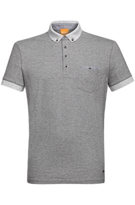 Yarn-Dyed Cotton Jersey Polo | Patches, Light Grey