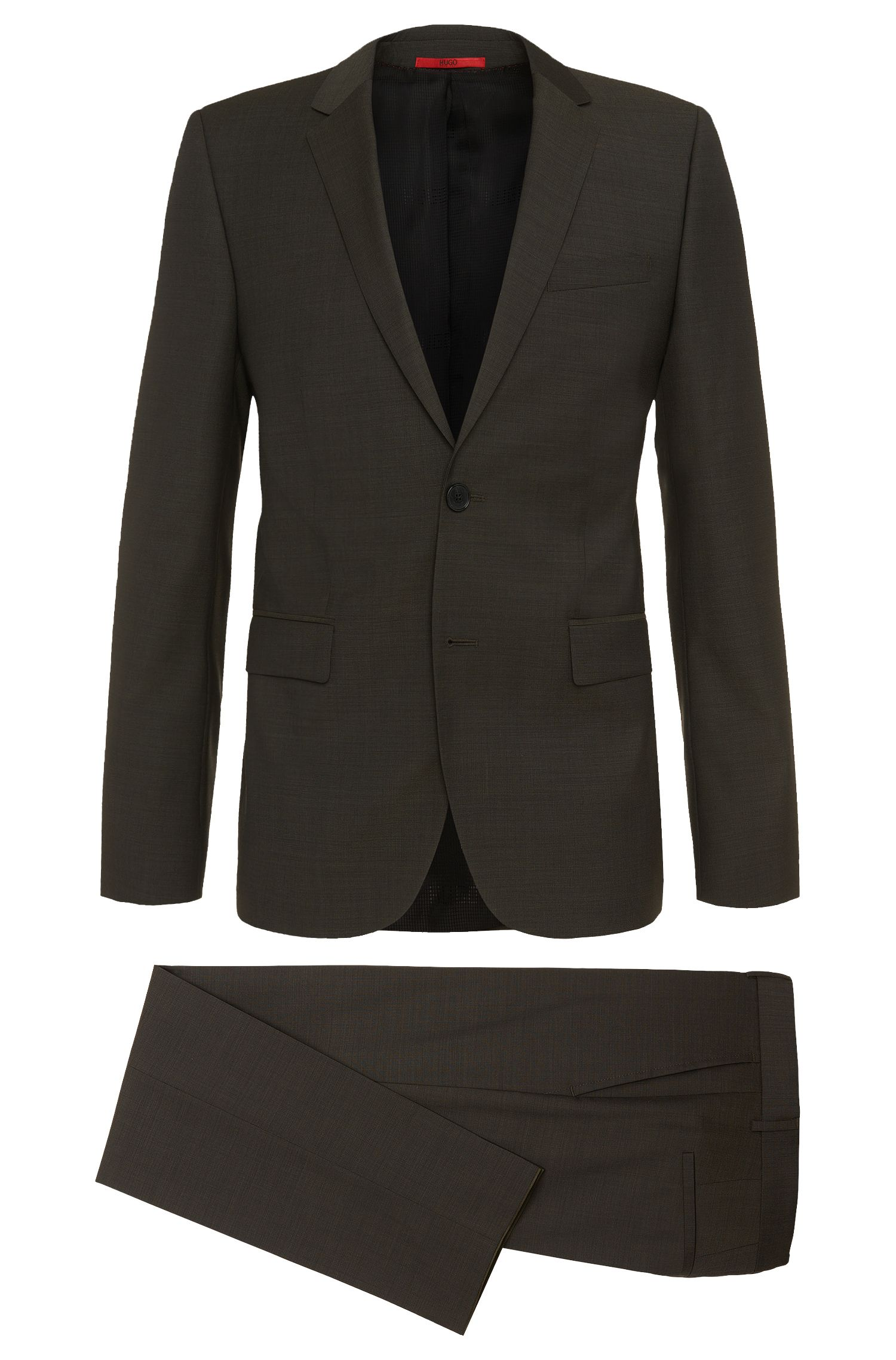 Nailhead Super 100 Virgin Wool Suit, Slim Fit | Aeron/Hamen