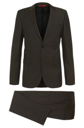 Nailhead Super 100 Virgin Wool Suit, Slim Fit | Aeron/Hamen, Open Green