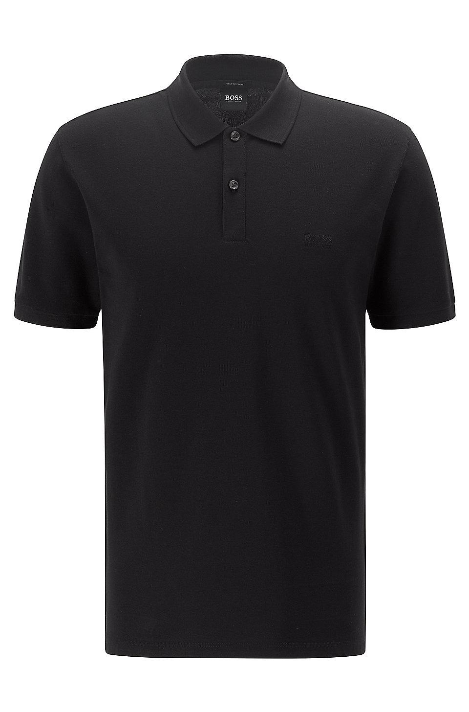 boss regular fit polo shirt in fine piqu