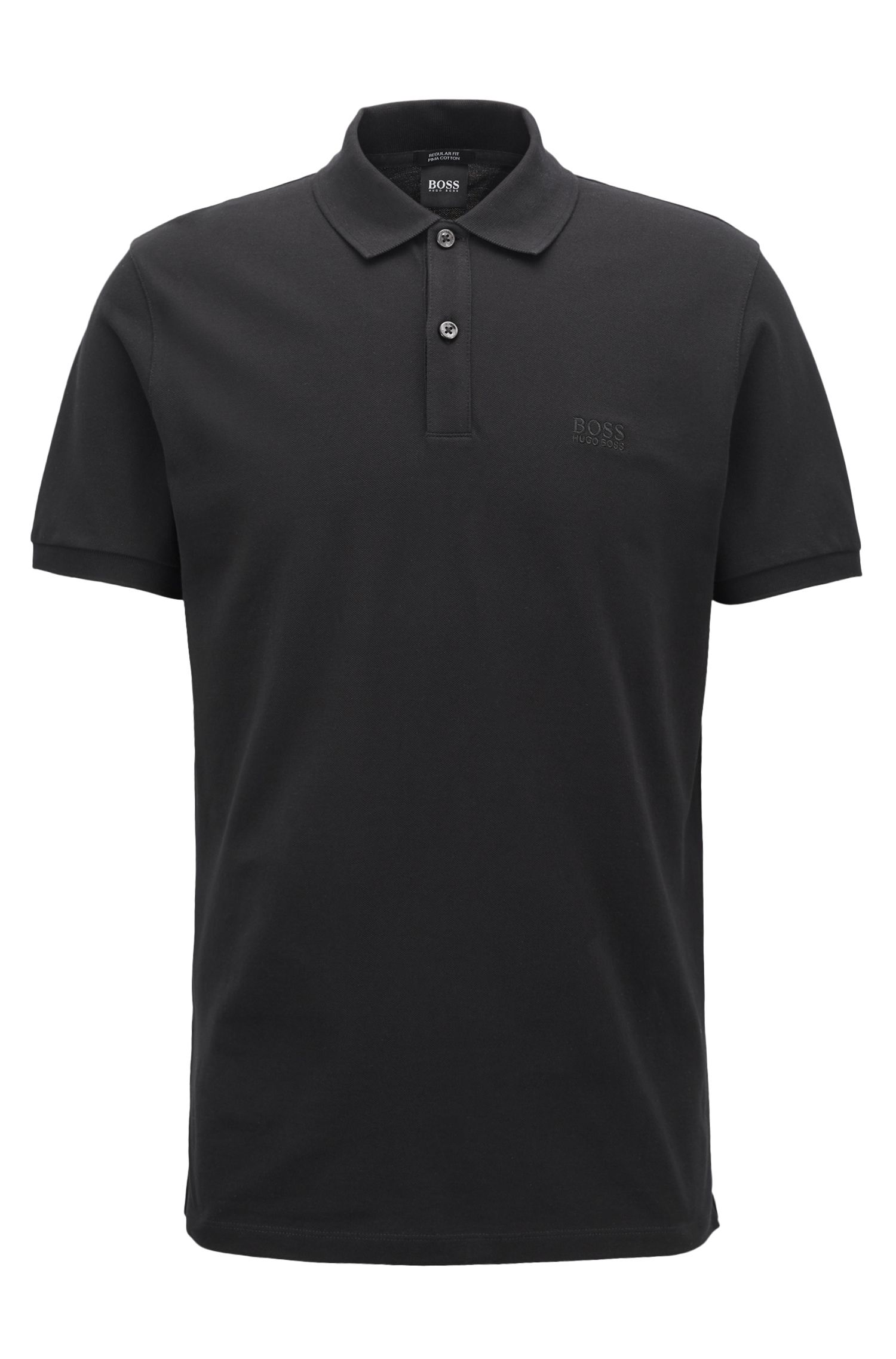 Regular-fit polo shirt in fine piqué