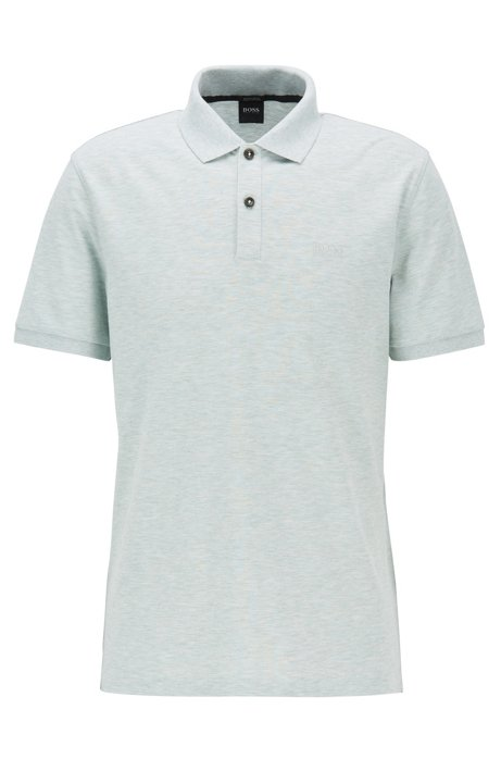 Regular-fit polo shirt in fine piqué, Light Green