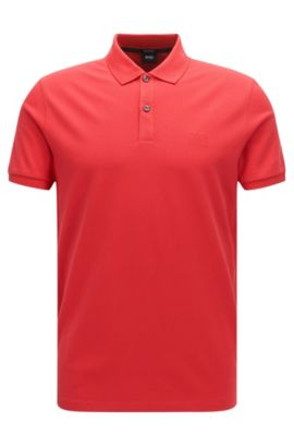 Cotton Polo, Regular Fit   Pallas, Red