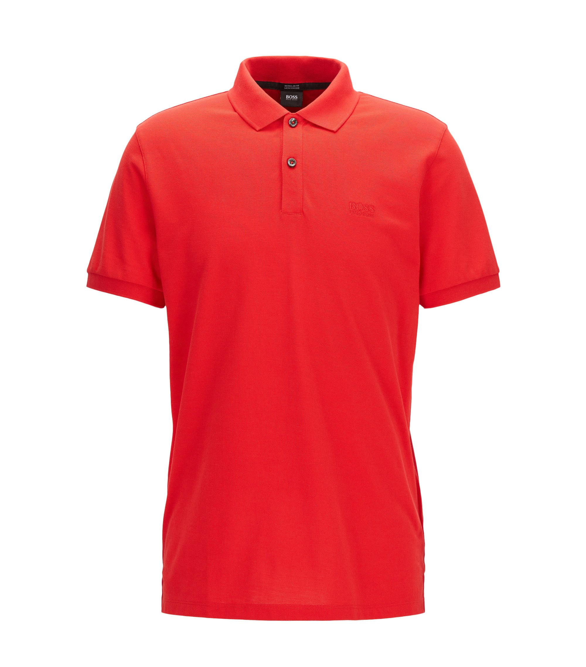 Cotton Polo Shirt, Regular Fit | Pallas, Red