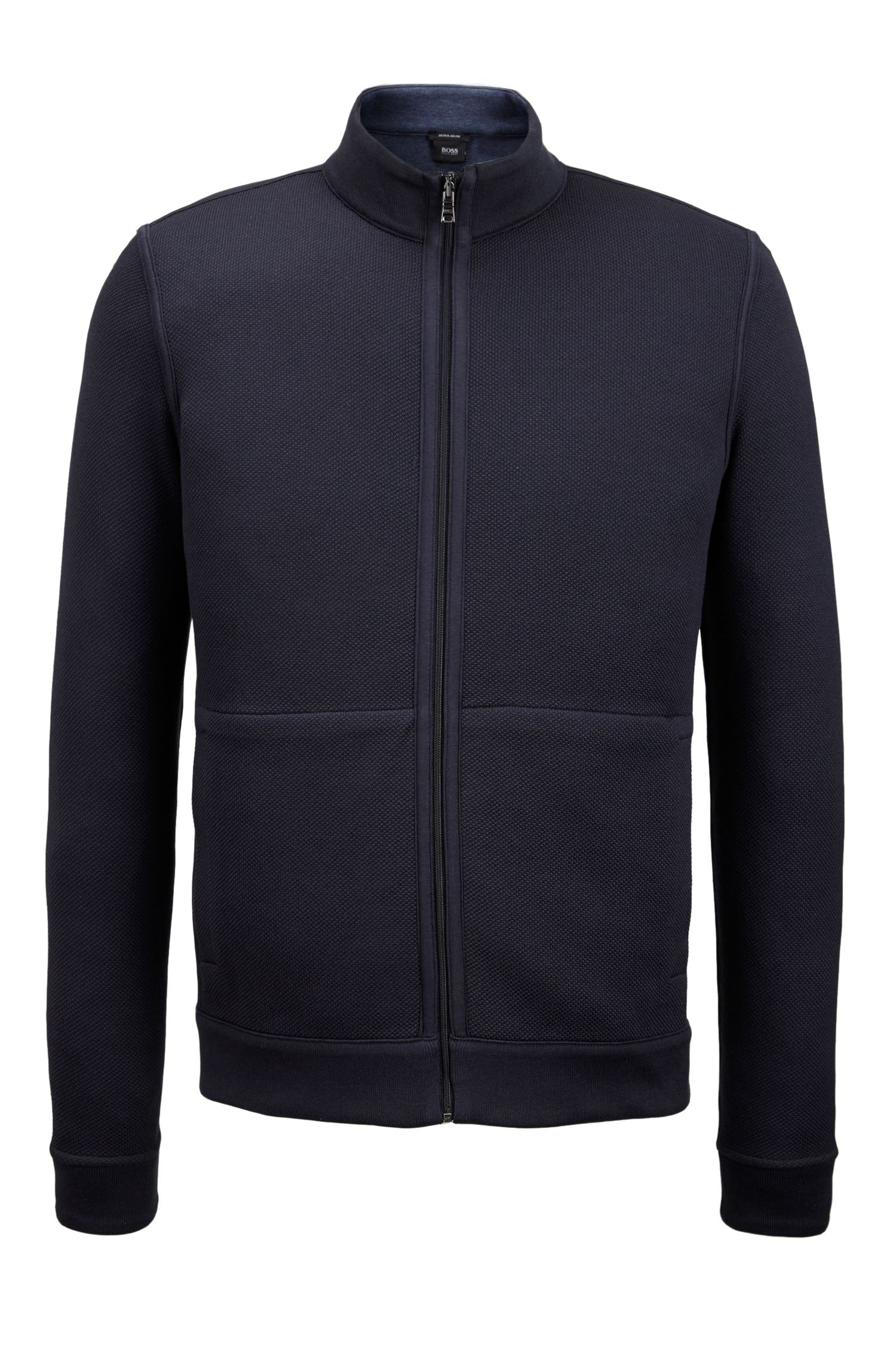Reversible Cotton Full-Zip Sweater | Scavo