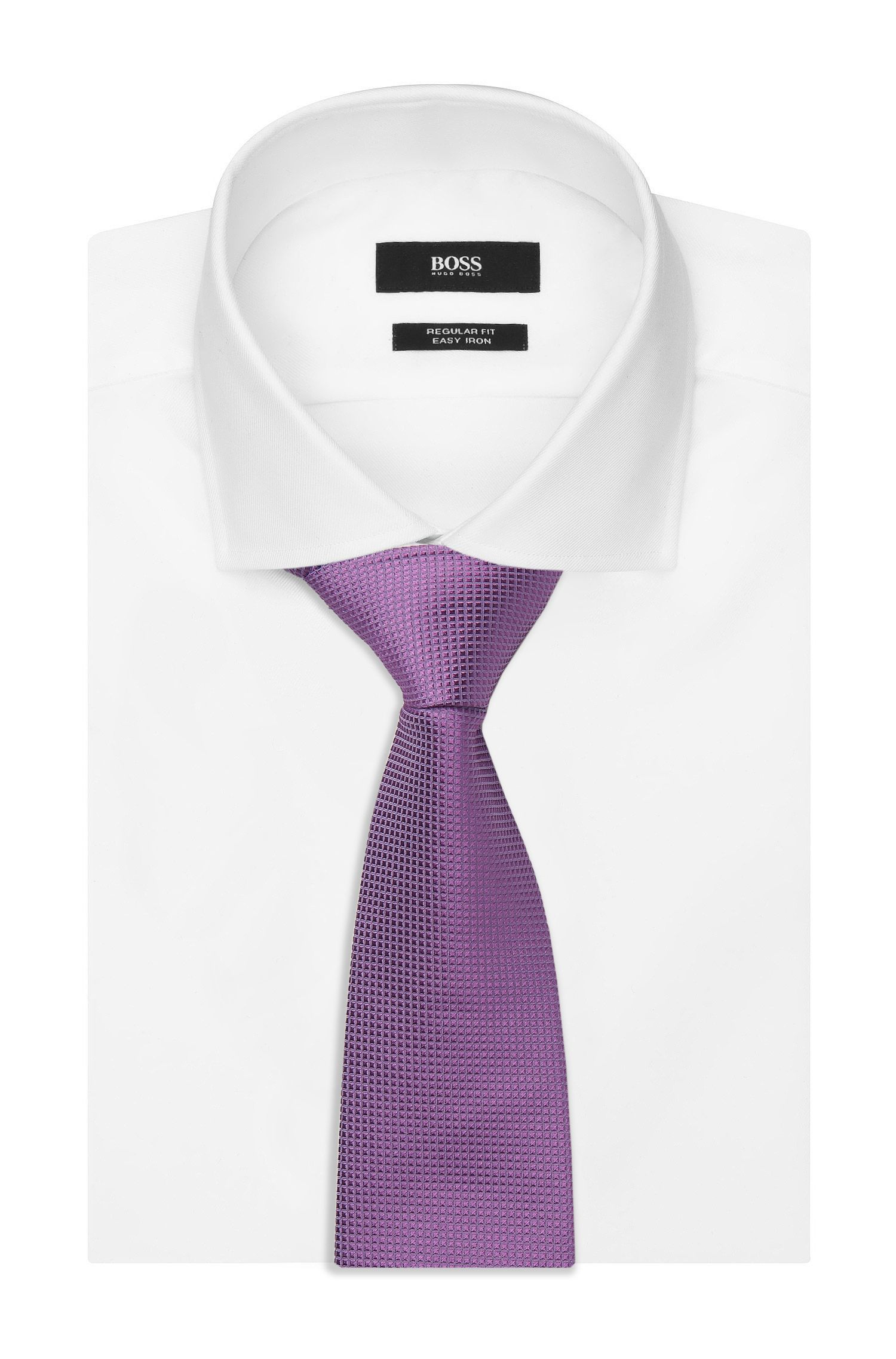 Nailhead Italian Silk Tie, Purple