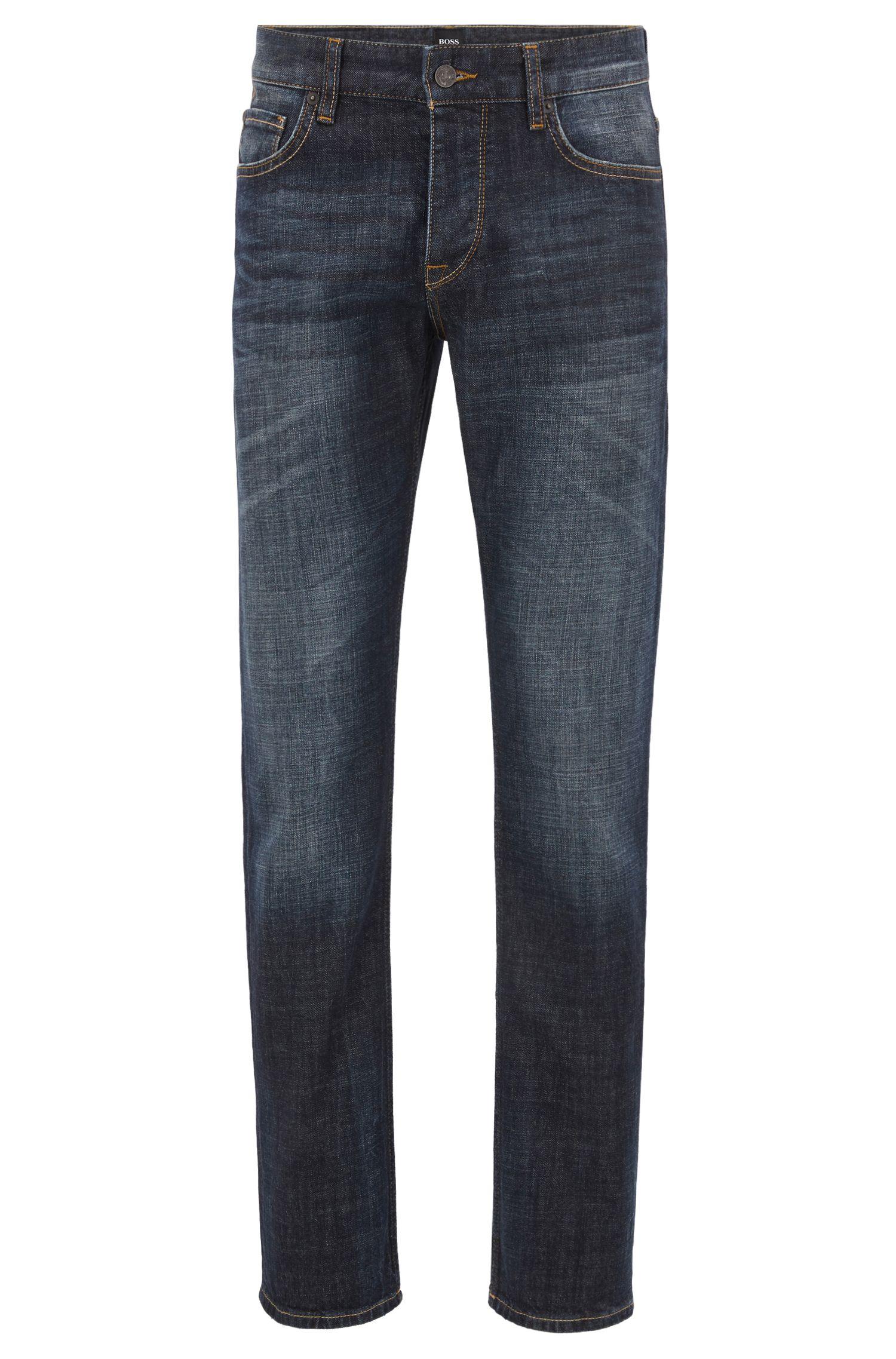 Stretch Cotton Jean, Regular Fit | Orange