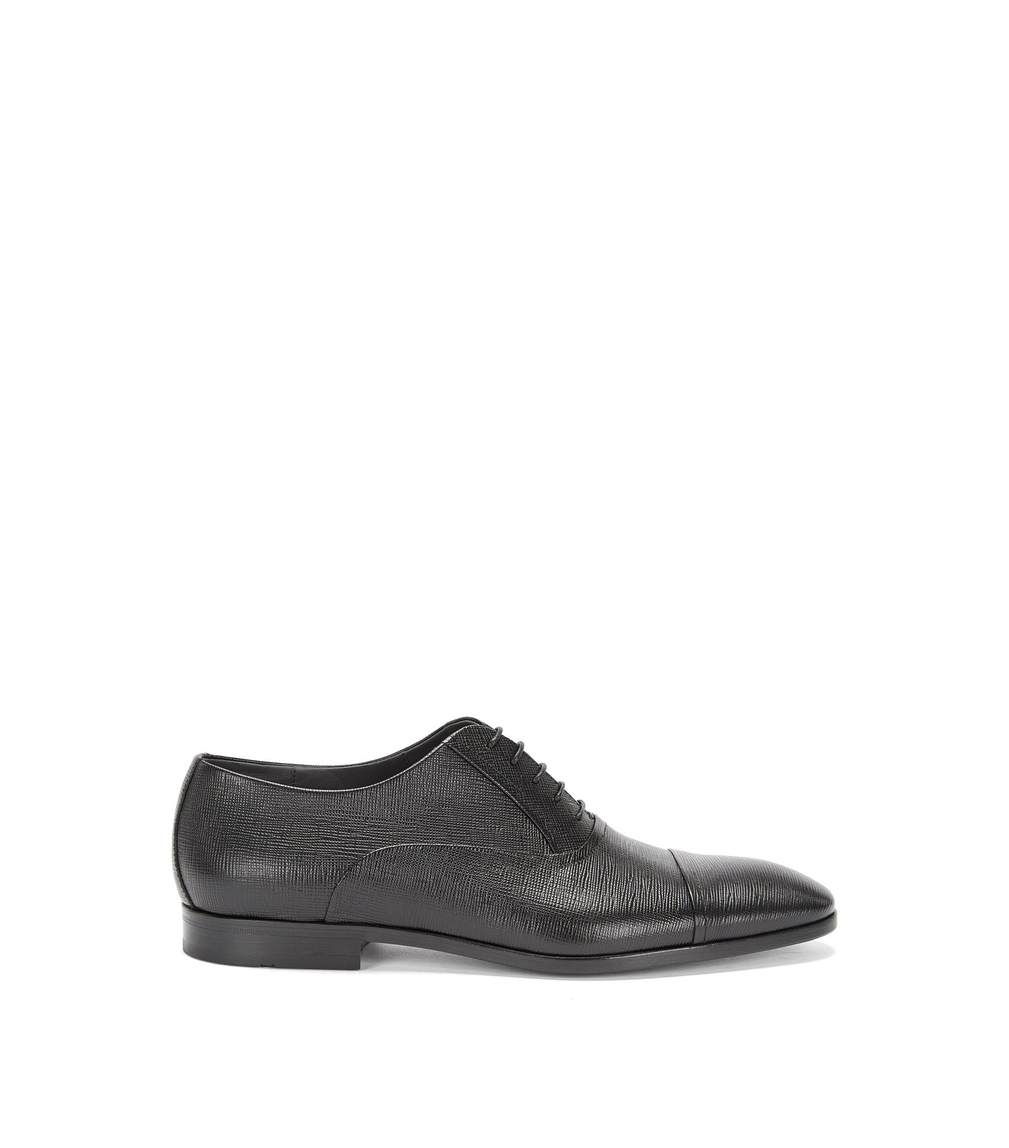 Italian Leather Oxford Dress Shoe | Eveprin, Black