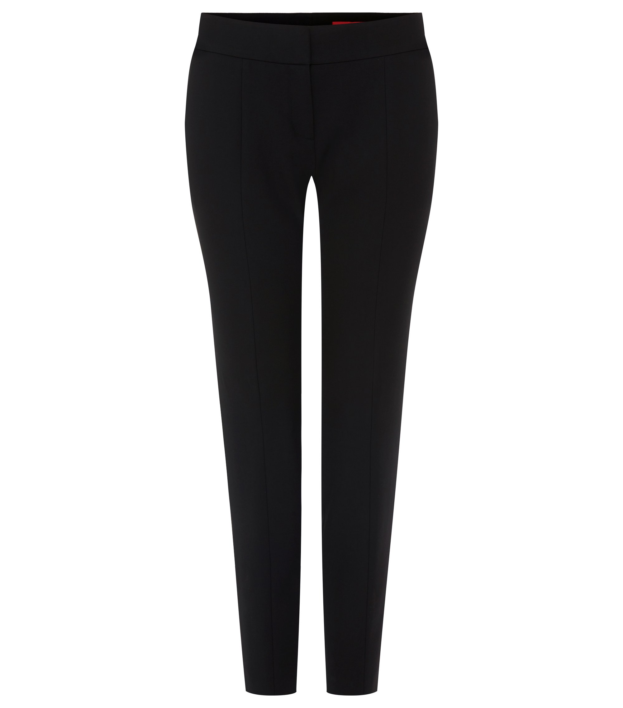 Stretch Cotton Blend Pant | Hevas, Black