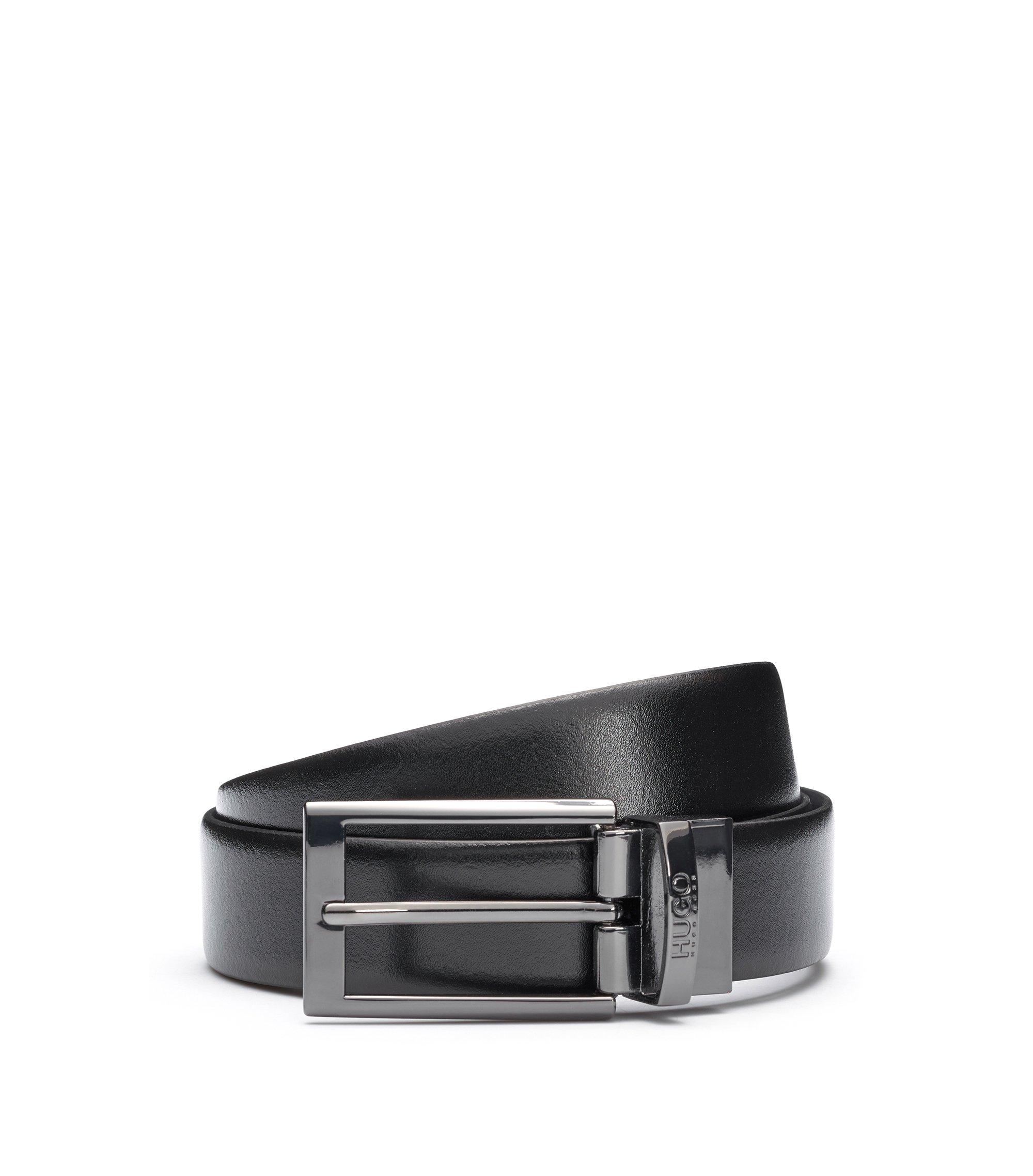Leather Belt | Elvio U, Black