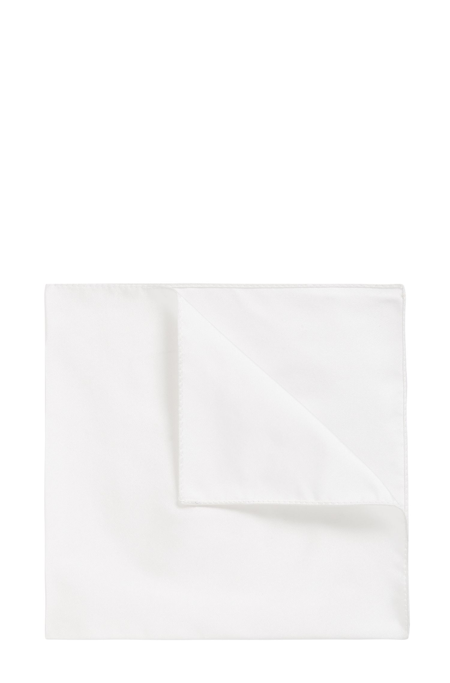 Silk Pocket Square | Pocket sq. cm 33x33, White