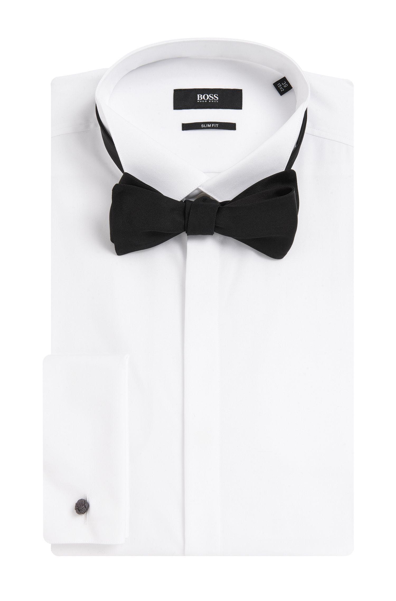 Self-Tie Italian Silk Bow Tie, Black