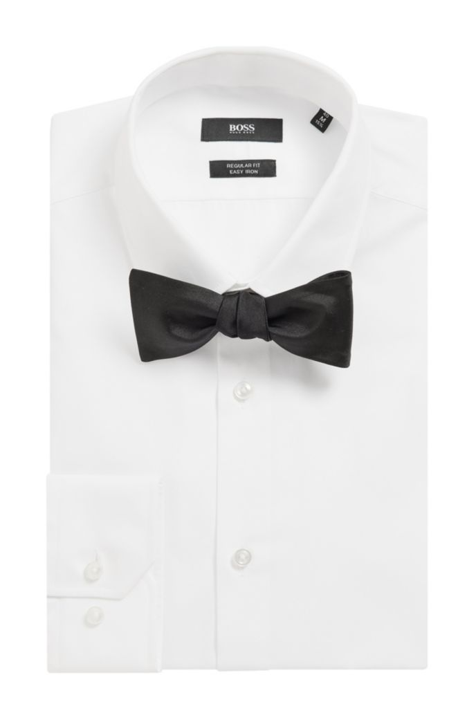 Italian-made bow tie in pure silk