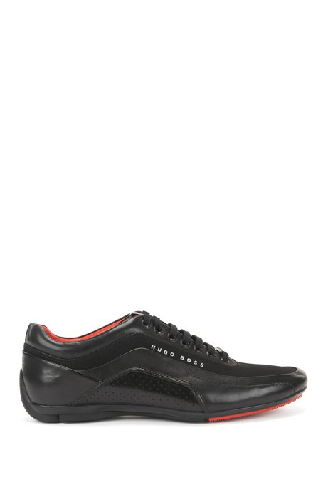 BOSS Hugo Boss Textured Leather Sneaker HB Racing 10 Black Marketable Pre Order Sale Online Footlocker Finishline Cheap Price Cheapest Cheap Price Buy Cheap Collections 4PUc7Zbpd