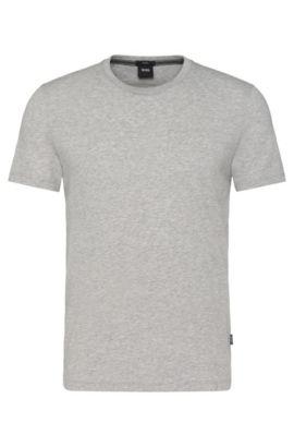'Tessler' | Cotton Crew T-Shirt, Open Grey