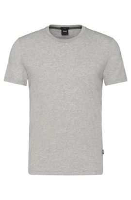 'Tessler' | Cotton Crew T-Shirt, Open Grey