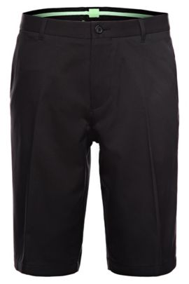 'Hayler' | Regular Fit, Woven Bermuda Shorts , Black