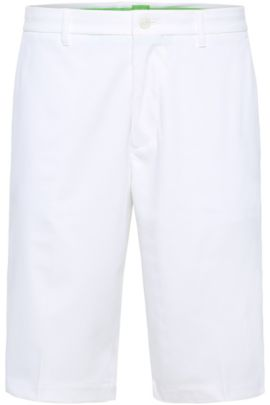 'Hayler' | Regular Fit, Woven Bermuda Shorts , White