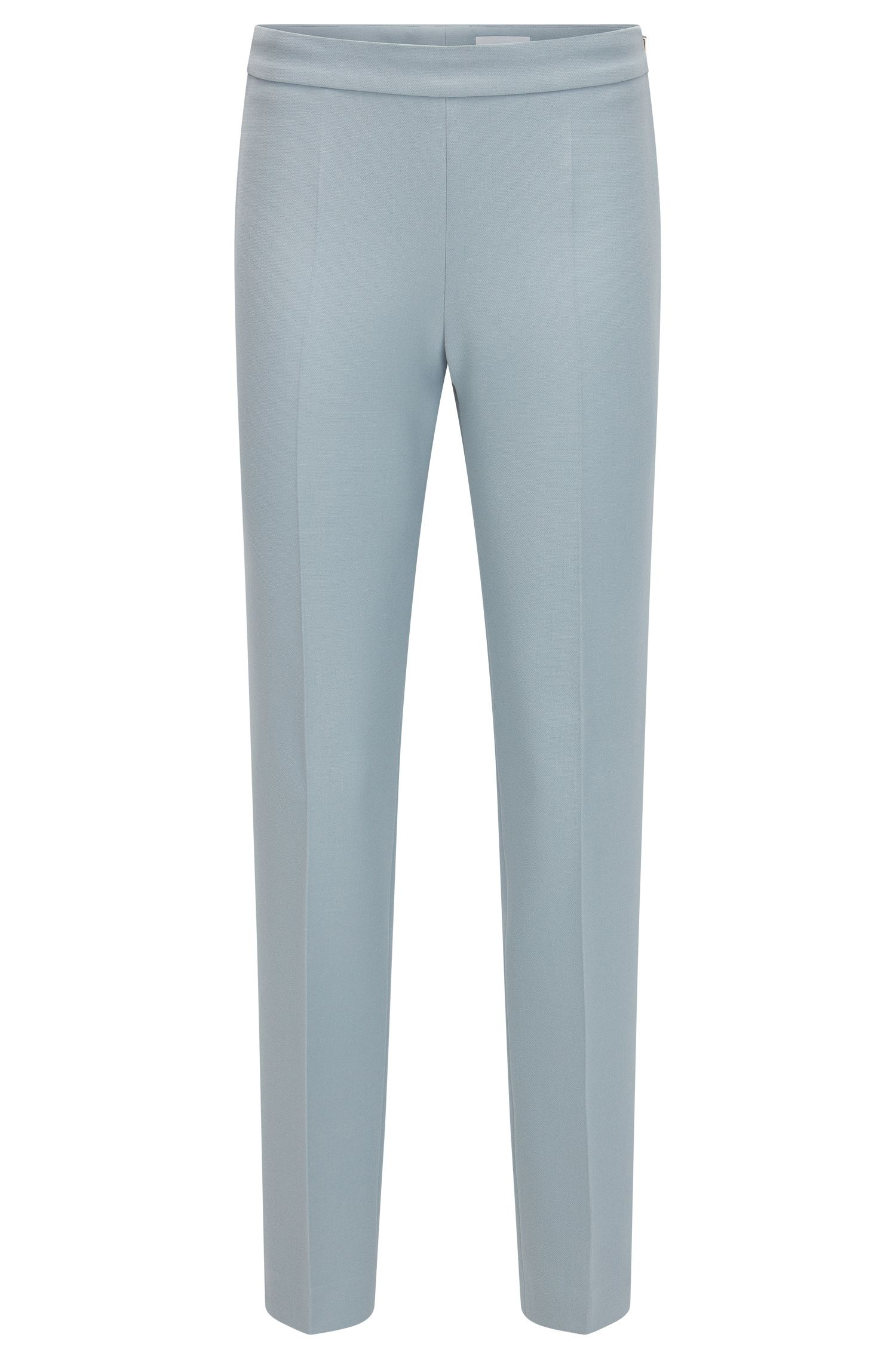Stretch Cotton Crepe Dress Pant | Tiluna Side Zip, Open Grey