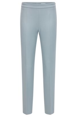 'Tiluna Side Zip' | Stretch Cotton Crepe Dress Pants, Open Grey