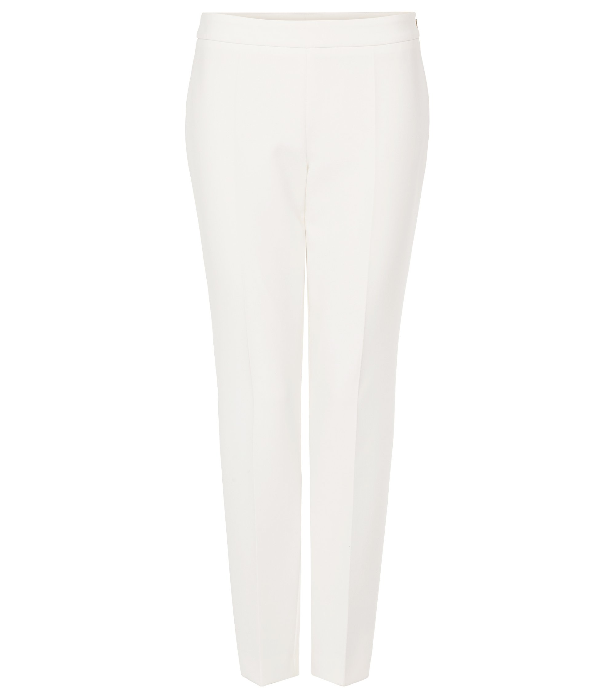 Stretch Cotton Crepe Dress Pant | Tiluna Side Zip, Natural