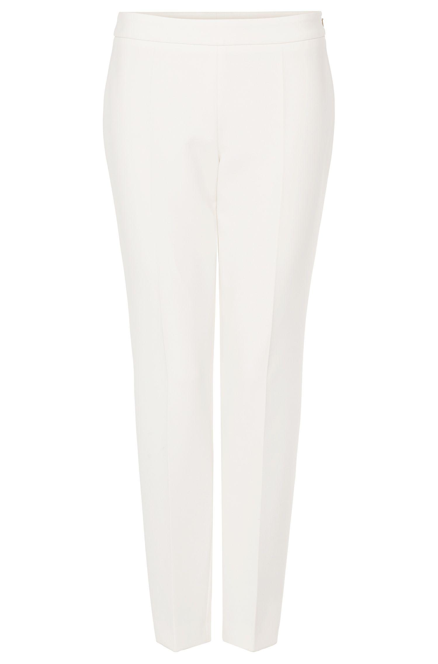 'Tiluna Side Zip'   Stretch Cotton Crepe Dress Pants