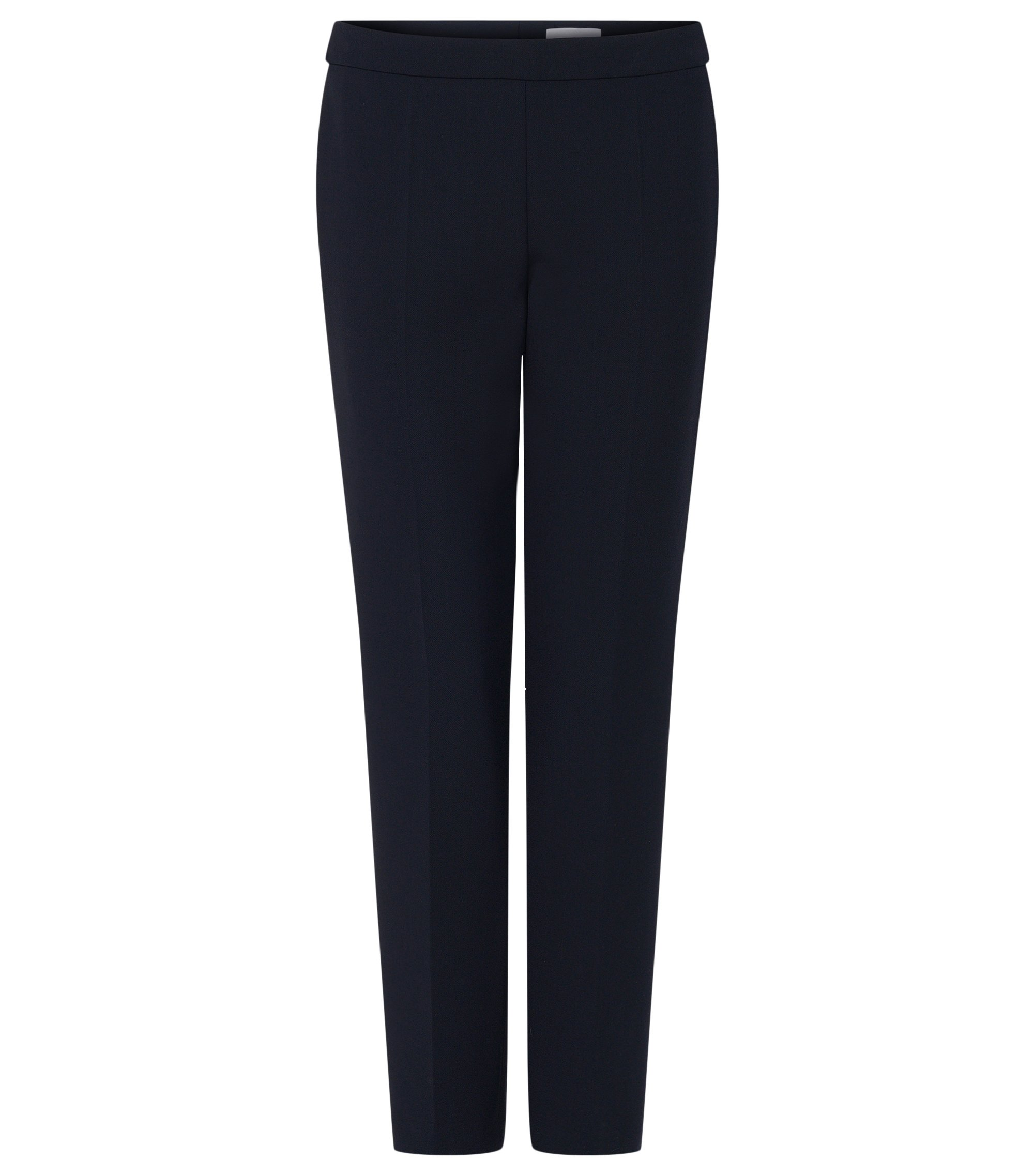 Stretch Cotton Crepe Dress Pant | Tiluna Side Zip, Open Blue