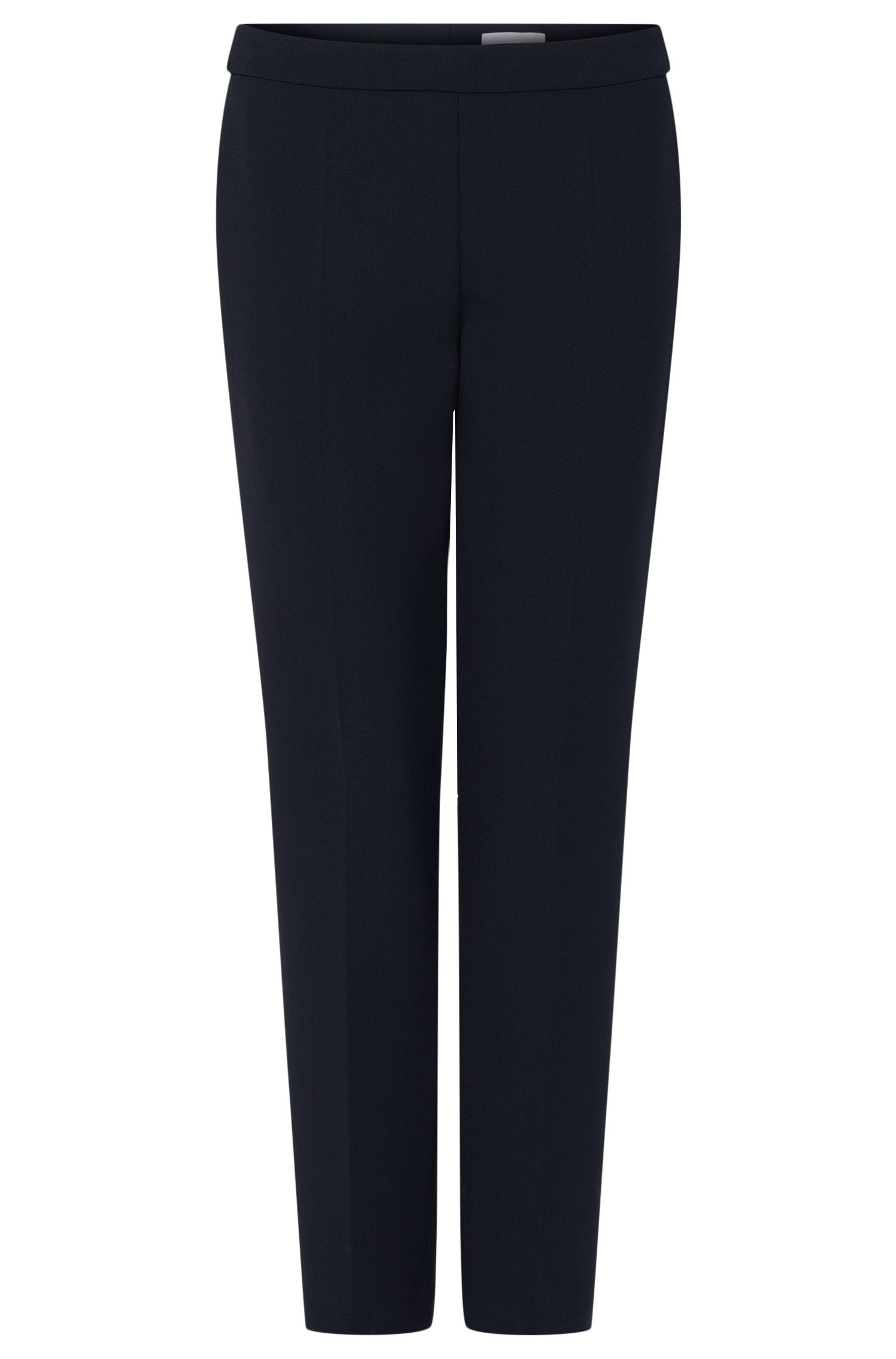 Stretch Cotton Crepe Dress Pant | Tiluna Side Zip